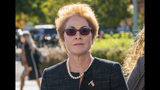 """FILE - In this Oct. 11, 2019, file photo, former U.S. ambassador to Ukraine Marie Yovanovitch, arrives on Capitol Hill in Washington. The House impeachment panels are starting to release transcripts from their investigation. And in one of them, Yovanovitch says that Ukrainian officials warned her in advance that Rudy Giuliani and his allies were planning to """"do things, including to me."""" (AP Photo/J. Scott Applewhite, File)"""