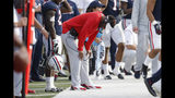 Arizona head coach Kevin Sumlin reacts after a missed field goal against Oregon State in the second half during an NCAA college football game, Saturday, Nov. 2, 2019, in Tucson, Ariz. Oregon State defeated Arizona 56-38. (AP Photo/Rick Scuteri)