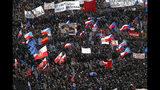 People take part in a large anti-government protest in Prague, Czech Republic, Saturday, Nov. 16, 2019. (AP Photo/Petr David Josek)