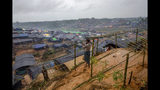 "-FILE- In this Wednesday, Sept. 20, 2017, file photo A Rohingya Muslim man, who crossed over from Myanmar into Bangladesh, builds a shelter for his family in Taiy Khali refugee camp, Bangladesh. Gambia has filed a case at the United Nations' highest court in The Hague, Netherlands, Monday, Nov. 11, 2019, accusing Myanmar of genocide in its campaign against the Rohingya Muslim minority. A statement released Monday by lawyers for Gambia says the case also asks the International Court of Justice to order measures ""to stop Myanmar's genocidal conduct immediately."" (AP Photo/Dar Yasin, file)"