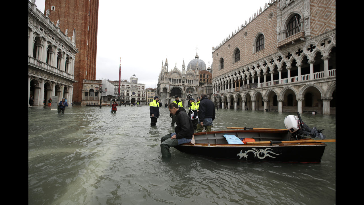 Climate Change in focus as record-breaking tide floods Venice