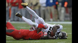 New Orleans Saints running back Latavius Murray (28) gets pulled down by Tampa Bay Buccaneers linebacker Devin White (45) during the first half of an NFL football game Sunday, Nov. 17, 2019, in Tampa, Fla. (AP Photo/Jason Behnken)