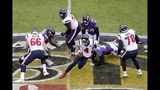 Houston Texans quarterback Deshaun Watson (4) scrambles against the Baltimore Ravens during the first half of an NFL football game, Sunday, Nov. 17, 2019, in Baltimore. (AP Photo/Julio Cortez)