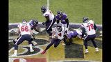 Houston Texans quarterback Deshaun Watson (4) scrambles against the Baltimore Ravens during the first half of an NFL football game, Sunday, Nov. 17, 2019, in Baltimore. (AP Photo/Julio Cortez)
