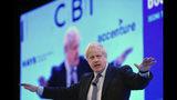 El primer ministro británico Boris Johnson habla en la Confederación de la Industria Británica (CBI) en Londres el lunes, 18 de noviembre del 2019. (Stefan Rousseau/PA vía AP)