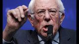 Democratic presidential candidate Sen. Bernie Sanders, I-Vt., speaks during a fundraiser for the Nevada Democratic Party, Sunday, Nov. 17, 2019, in Las Vegas. (AP Photo/John Locher)