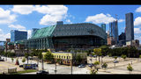 FILE - This Sept. 11, 2016 file photo shows a wide angle view of Minute Maid Park in downtown Houston. Major League Baseball has expanded its investigation into the Houston Astros after The Athletic website reported the team stole signs during home games in 2017 by using a camera positioned in center field. The report Tuesday, Nov. 12, 2019 quoted pitcher Mike Fiers, who played for the Astros that season, and three other unidentified people with the club. The Astros won the World Series that year - two sources told The Athletic that Houston used the system into the playoffs while another source said it ended before the postseason. (AP Photo/Juan DeLeon, file)
