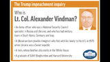 Profile of congressional witness Lt. Col. Alexander Vindman;
