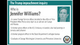 Profile of congressional witness Jennifer Williams;