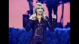 FILE - In this July 10, 2019 file photo Taylor Swift performs at Amazon Music's Prime Day concert in New York. Swift, for a second time, didn't receive an album of the year nomination for the 2020 Grammy Awards. (Photo by Evan Agostini/Invision/AP, File)