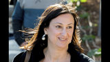FILE - This April 4, 2016 file photo shows Maltese investigative journalist Daphne Caruana Galizia, who was killed by a car bomb in Malta on Oct. 16, 2017. Maltese authorities say a man arrested in a money-laundering case claims to have information identifying the mastermind behind the assassination of Daphne Caruana Galizia. (AP Photo/Jon Borg, File)