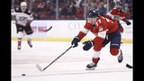 Florida Panthers center Frank Vatrano (77) skates for the puck during the second period of an NHL hockey game against the Anaheim Ducks, Thursday, Nov. 21, 2019, in Sunrise, Fla. (AP Photo/Brynn Anderson)