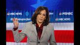 Democratic presidential candidate Sen. Kamala Harris, D-Calif., speaks during a Democratic presidential primary debate, Wednesday, Nov. 20, 2019, in Atlanta. (AP Photo/John Bazemore)