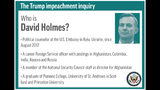 Profile of congressional witness David Holmes;