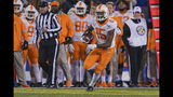 Tennessee wide receiver Jauan Jennings (15) carries during the second half of the team's NCAA college football game against Kentucky, Saturday, Nov. 9, 2019, in Lexington, Ky. (AP Photo/Bryan Woolston)