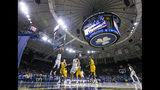 Notre Dame's Juwan Durham (11) dunks against Toledo during an NCAA college basketball game Thursday, Nov. 21, 2019, in South Bend, Ind. (Michael Caterina/South Bend Tribune via AP)