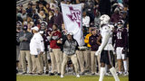 Texas A&M coach Jimbo Fisher yells to his players during the second half of an NCAA college football game against South Carolina Saturday, Nov. 16, 2019, in College Station, Texas. (AP Photo/David J. Phillip)