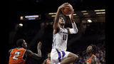 Kansas State's Antonio Gordon (11) shoots during the first half of an NCAA college basketball game against Florida A&M, Monday, Dec. 2, 2019, in Manhattan, Kan. (AP Photo/Charlie Riedel)