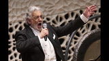 Opera star Placido Domingo performs during a concert at the Elbphilharmonie in Hamburg on Wednesday, No. 27, 2019. (Christian Charisius/dpa via AP)
