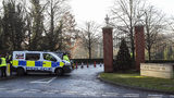 Police outside The Grove hotel in Watford ahead of the NATO Leaders Meeting beginning on Tuesday, in Hertfordshire, England, Monday, Dec. 2, 2019. U.S. President Donald Trump will gather with NATO's other leaders in London Tuesday as the world's biggest military alliance, marking its 70th birthday, battles with one of the most confounding of adversaries: Itself. (Steve Parsons/PA via AP)
